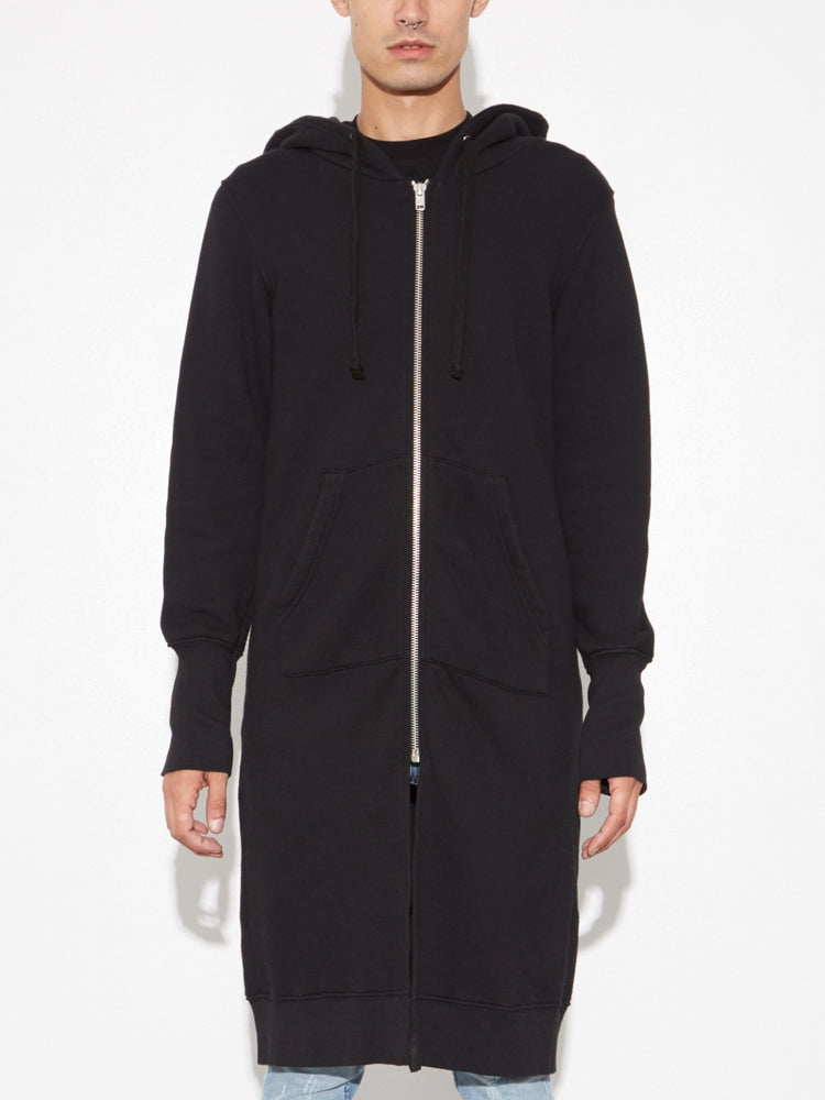 Oak Long Slouch Hoodie in Black in Black by Oak