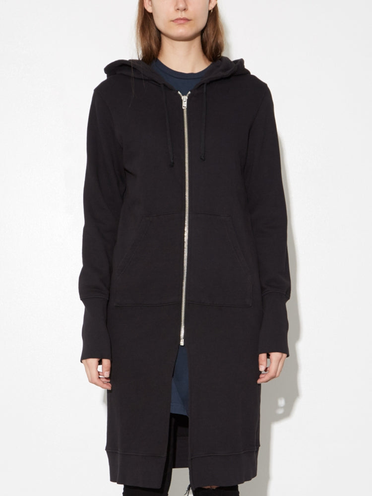 Load image into Gallery viewer, Oak Long Slouch Hoodie in Black
