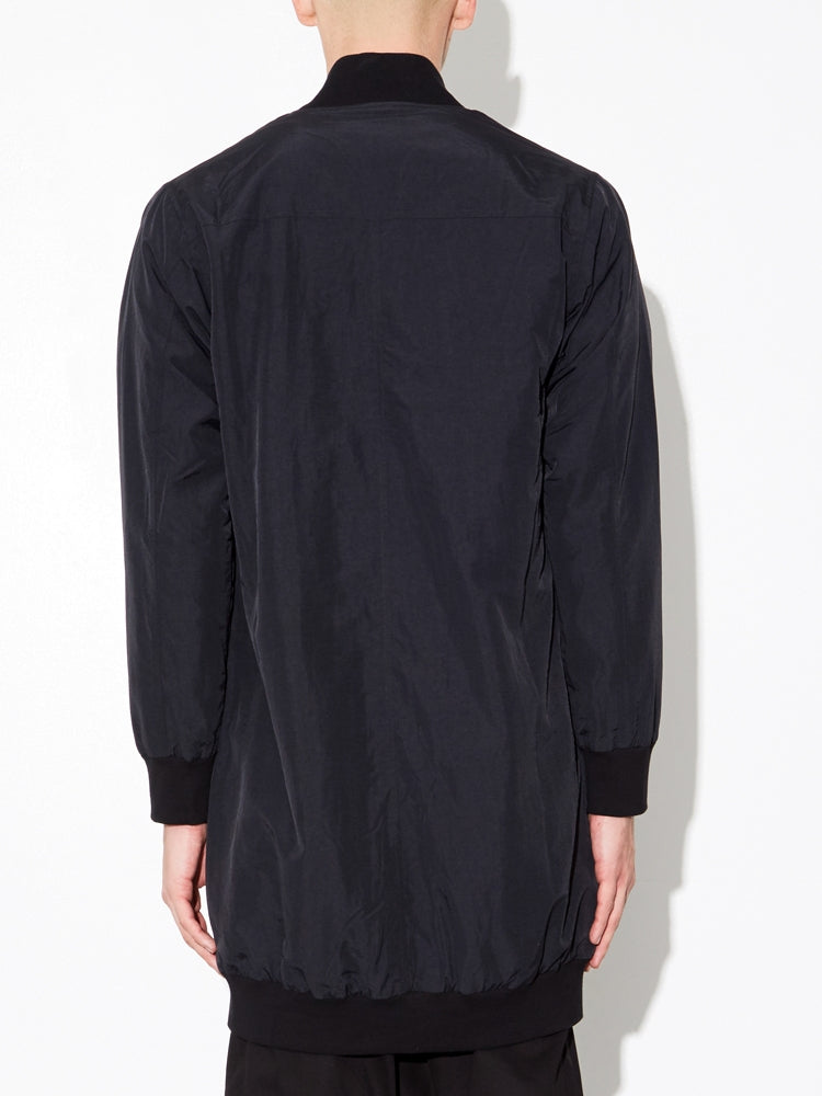 Load image into Gallery viewer, Long Zip Bomber in Black by OAK