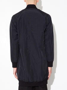 Long Zip Bomber in Black by OAK in Black by Oak