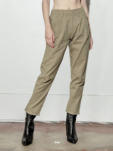 Mid Rise Straight Pant in Olive by A/OK