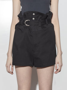 Belted Short in Black by Oak