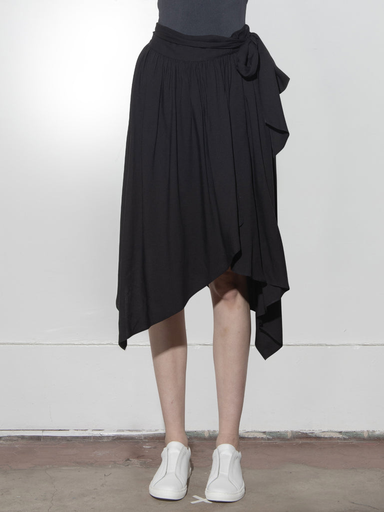 Seton Skirt in Poly Crepe by Oak