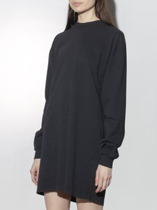 Oak Long Sleeve Mock Neck Dress in Black in Black by Oak