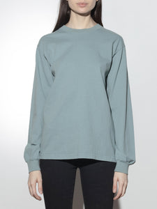 Long Sleeve Standard Crew Tee in Atlantic Green by Oak