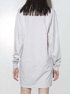 Oak Long Sleeve Mock Neck Dress in Cement in Cement by Oak
