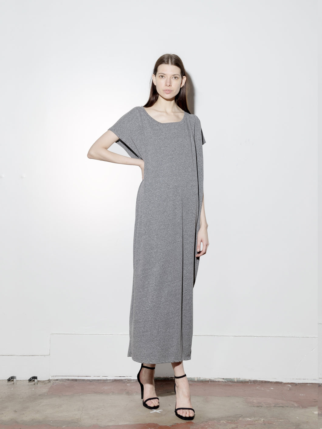 Side Pleat Box Maxi