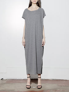 Side Pleat Box Maxi in Heather Grey by Oak