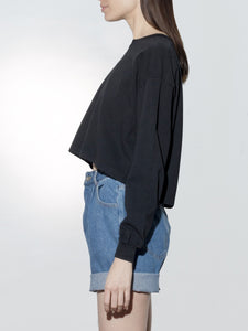 Long Sleeve Weldon Tee in Black by Oak OOS