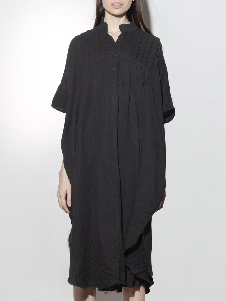 Pintuck Maxi in Black by Oak