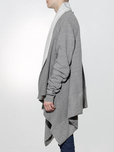 Long Sleeve Wrap in Heather Grey by Oak