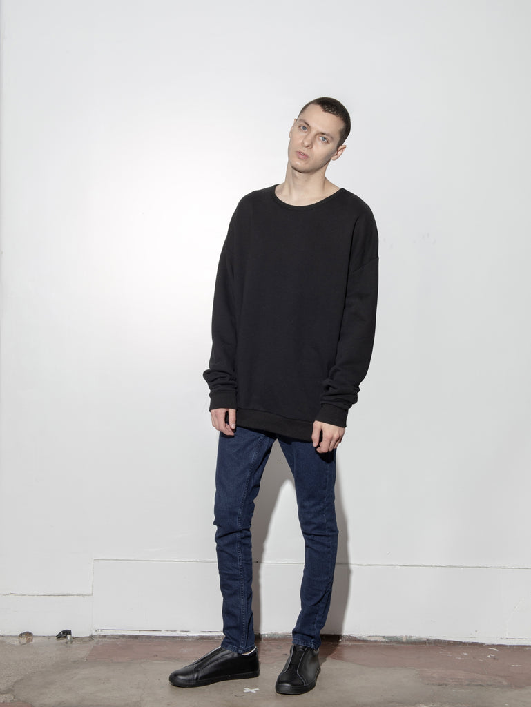 Arc Sweatshirt in Washed Black by Oak