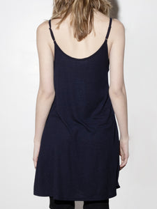 V-Neck Rib Dress in Midnight by A/OK OOS
