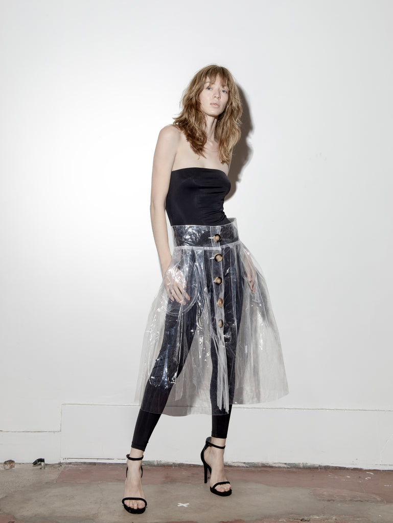 A/OK Vinyl Skirt in Liquid in Liquid by A/OK