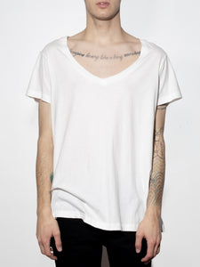 Oversize V Tee in Chalk by Oak