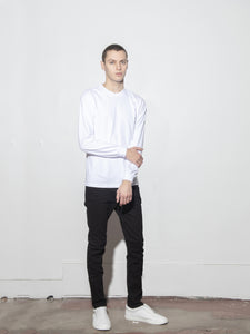 Long Sleeve Standard Crew Tee in White by Oak OOS