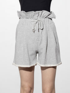 Gather Waist Terry Short in Heather Grey by A/OK