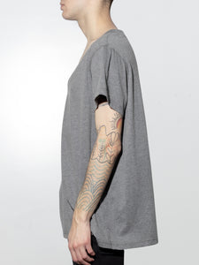 Oversize V Tee in Heather Grey by Oak