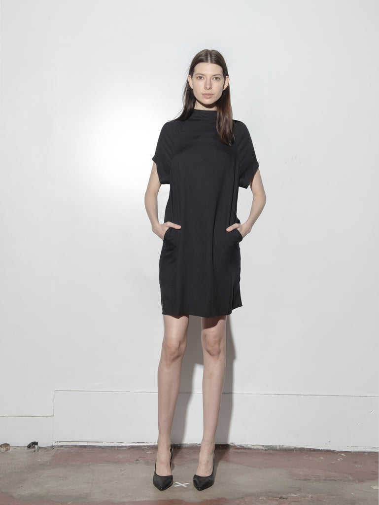 Dell Dress in Poly Crepe by Oak
