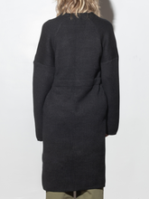 Load image into Gallery viewer, Waist Tie Knit Jacket