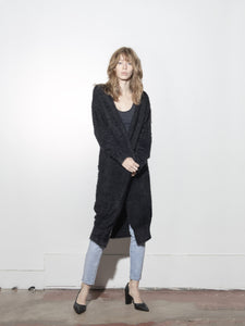 Fuzzy Cardigan in Black by Oak