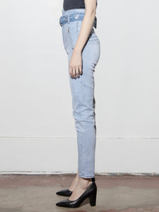 Ring Belt High Jean in Blowout by A/OK OOS