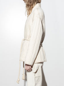 A/OK Tassel Tie Jacket in Bone in Bone by A/OK OOS