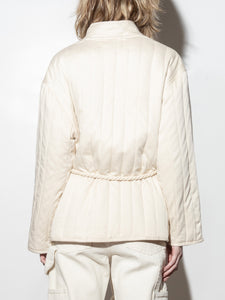 A/OK Tassel Tie Jacket in Bone in Bone by A/OK