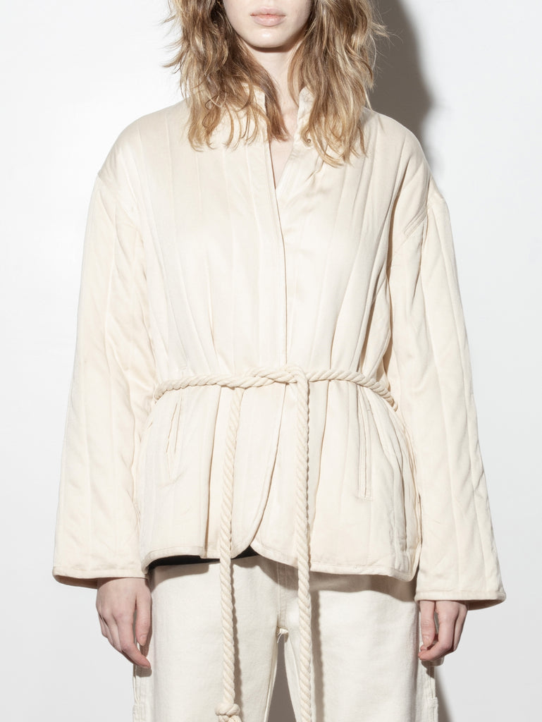 Load image into Gallery viewer, A/OK Tassel Tie Jacket in Bone