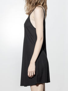 V-Neck Rib Dress in Black by A/OK OOS
