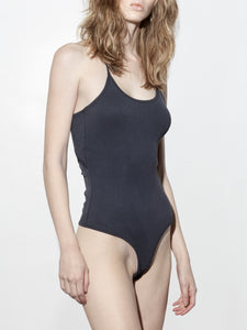 Cutout Back Bodysuit in Midnight by A/OK OOS