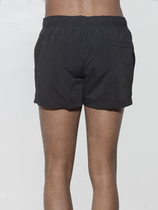 Cropped Swim Short in Black by Oak