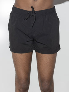 Cropped Swim Short in Black by Oak OOS