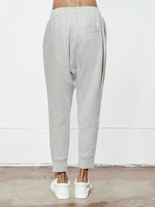 Cuffed Gusset Sweatpant in Heather Grey by Oak OOS