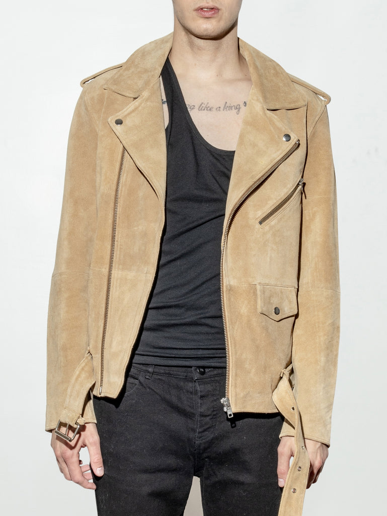 NY Suede Roamer Jacket in Camel by Oak