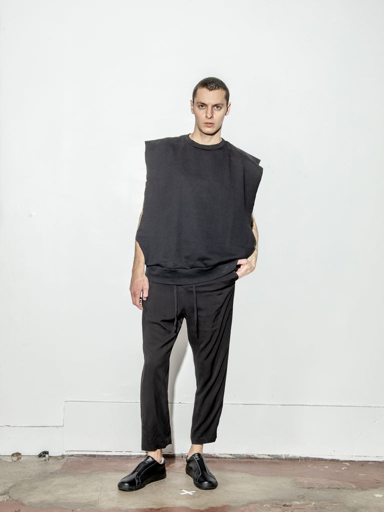 Sideless Pullover in Black by Oak