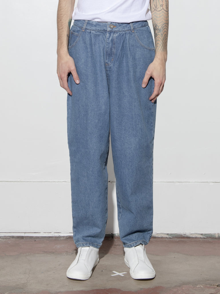 Load image into Gallery viewer, Pleated Baggy Jean