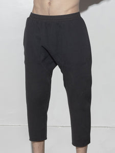 Oak Cropped Karate Sweat Pant in Black  in Black by Oak OOS