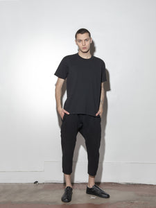 Cropped Karate Sweat Pant in Black by OAK