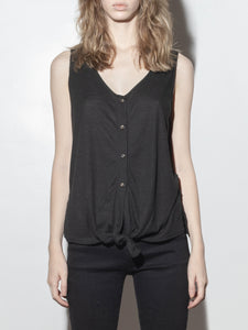 Button Cami in Black by A/OK OOS
