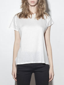 Drop Sleeve Cap Tee in Off White by A/OK OOS