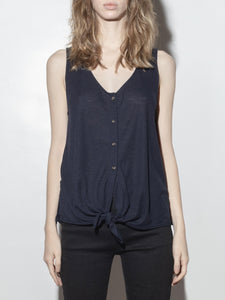Button Cami in Midnight by A/OK OOS