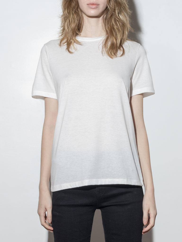A/OK Relaxed Tee in Off White in Off White by A/OK