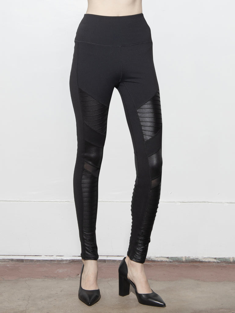 A/OK Panel Legging in Black in Black by A/OK