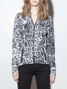 A/OK Curve Jacket in Cheetah in Cheetah by A/OK