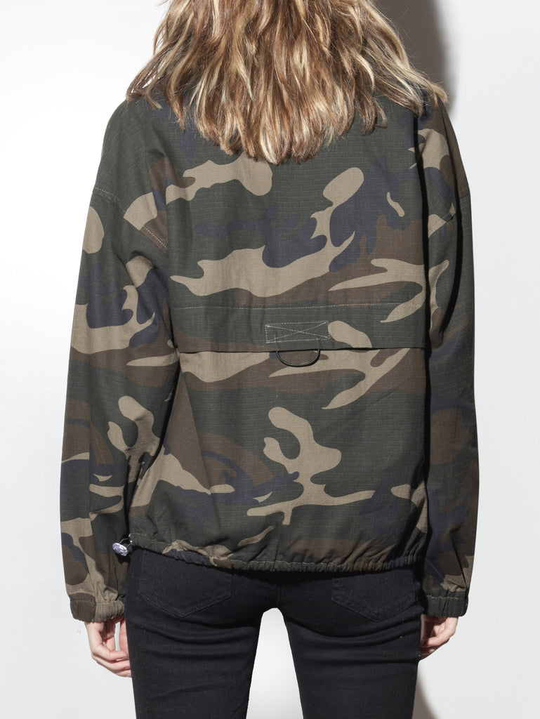 Load image into Gallery viewer, A/OK Camo Zip Pullover in Camo
