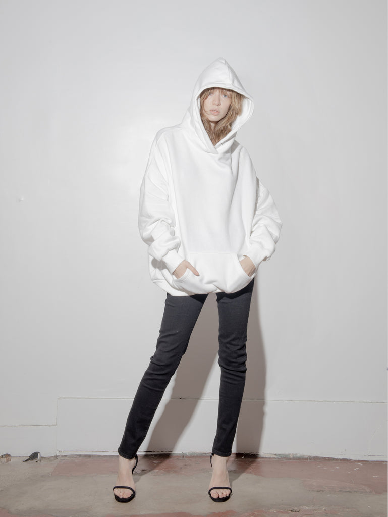 Load image into Gallery viewer, A/OK Oversized Hoodie in Ivory