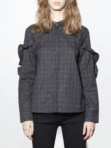 Check Blouse in Charcoal by A/OK OOS