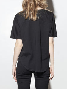 Drape Panel Tee in Black by Oak