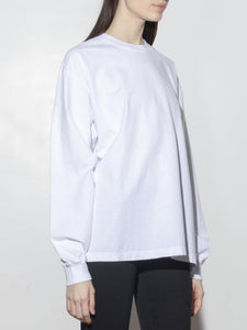 Long Sleeve Standard Crew Tee in White by Oak